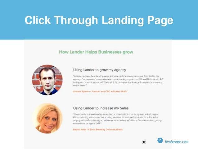 Click Through Landing Page landerapp.com32