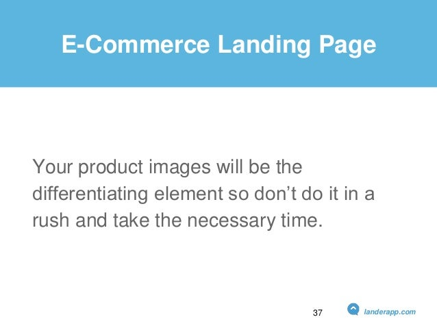 E-Commerce Landing Page Your product images will be the differentiating element so don't do it in a rush and take the nece...