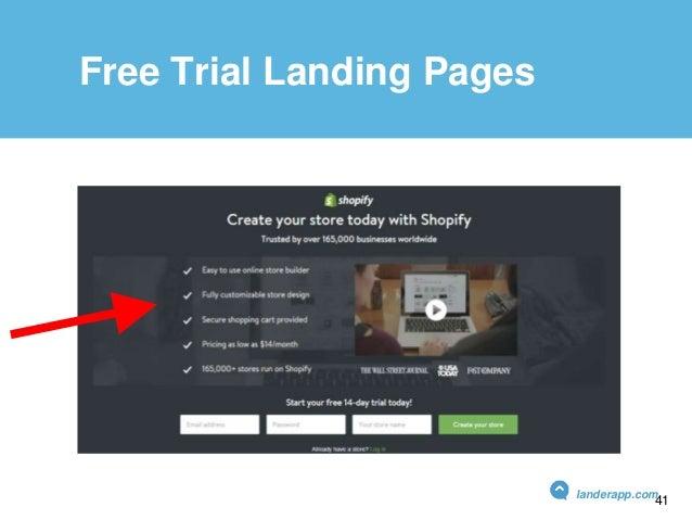 Free Trial Landing Pages Free Trial Landing Pages landerapp.com 41