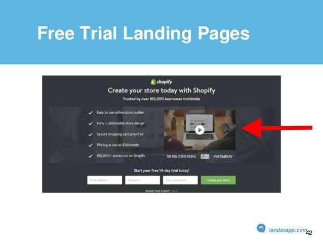 Free Trial Landing Pages landerapp.com 42