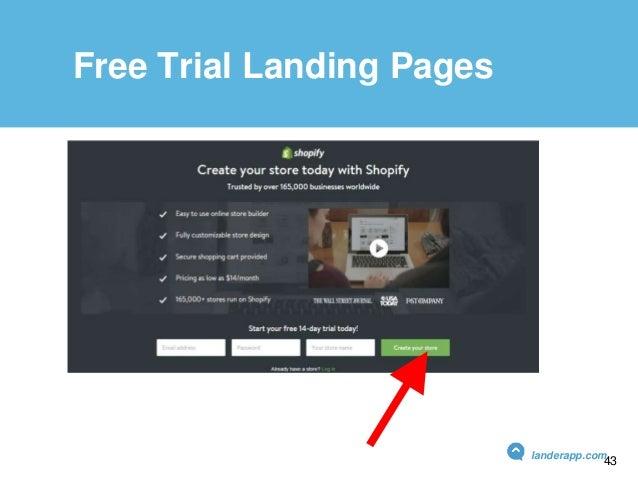 Free Trial Landing Pages landerapp.com 43