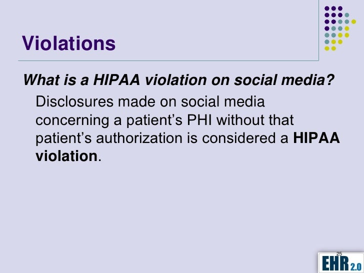hipaa violation Dma is providing general information about the health insurance portability and accountability act rules what is hipaa on the type of violation.