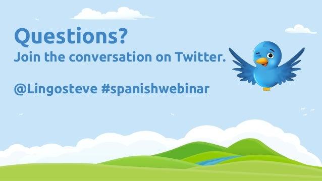 Webinar - Spanish Basic 12 Tips Slide 2