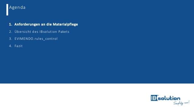 Mit einem vorkonfiguriertem SAP MDG for Material sofort durchstarten Slide 2