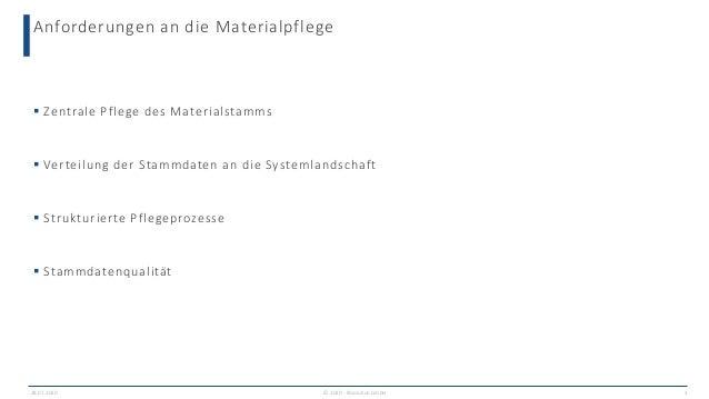 Mit einem vorkonfiguriertem SAP MDG for Material sofort durchstarten Slide 3