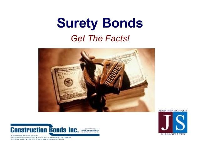 Surety BondsGet The Facts!