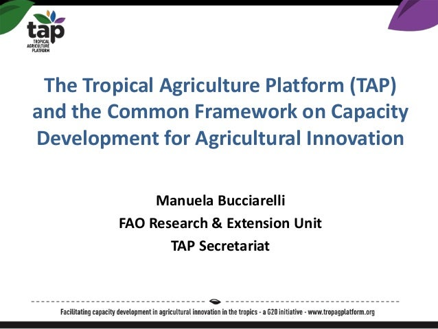 The Tropical Agriculture Platform (TAP) and the Common Framework on Capacity Development for Agricultural Innovation Manue...