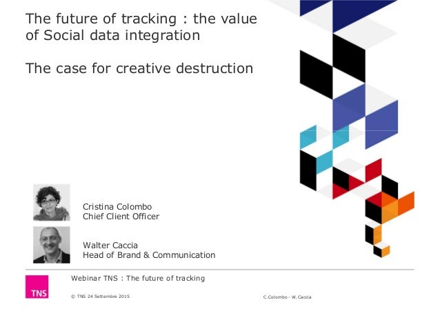 Webinar TNS : The future of tracking © TNS 24 Settembre 2015 C.Colombo - W.Caccia The future of tracking : the value of So...
