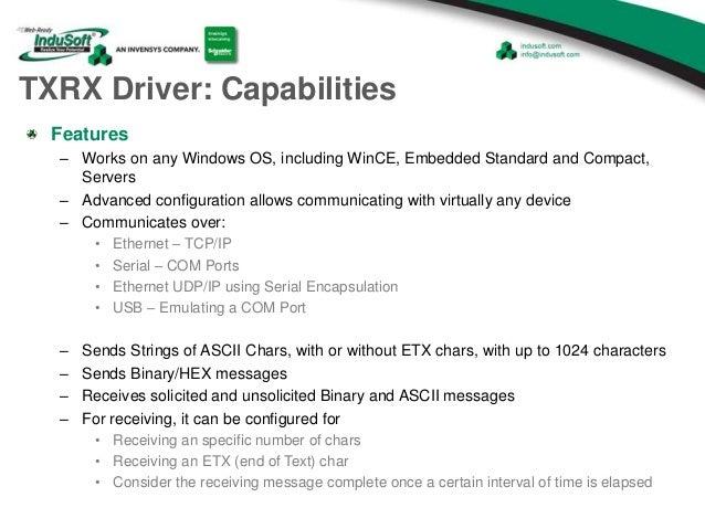 Using the TXRX Driver in InduSoft Web Studio