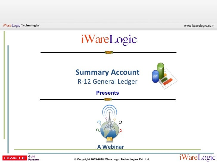 Summary Account R-12 General Ledger Presents A Webinar