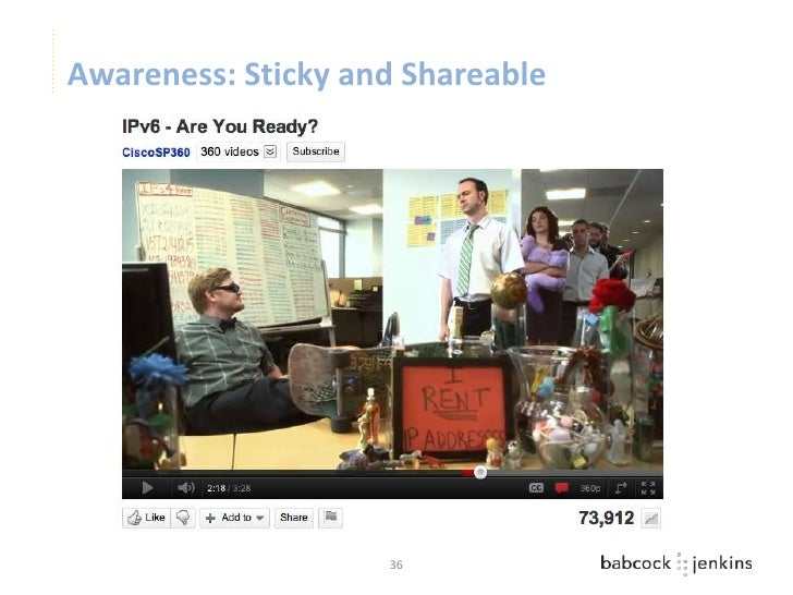Awareness: Sticky and Shareable                    36