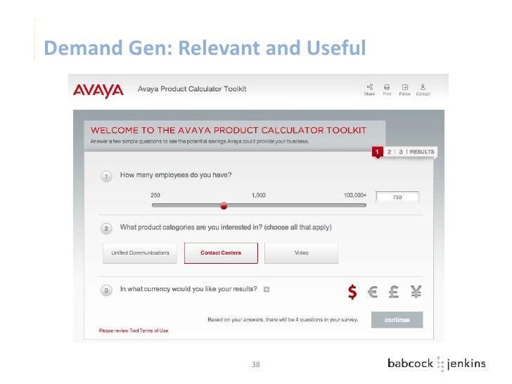 Demand Gen: Relevant and Useful                   38