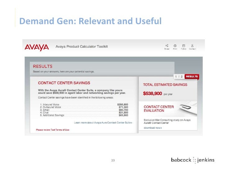 Demand Gen: Relevant and Useful                   39