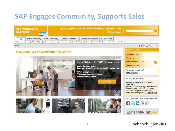 SAP Engages Community, Supports Sales                    4