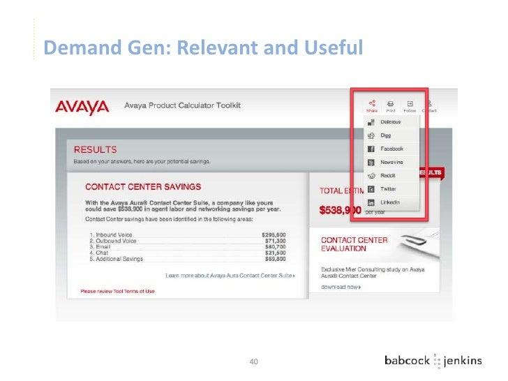 Demand Gen: Relevant and Useful                   40