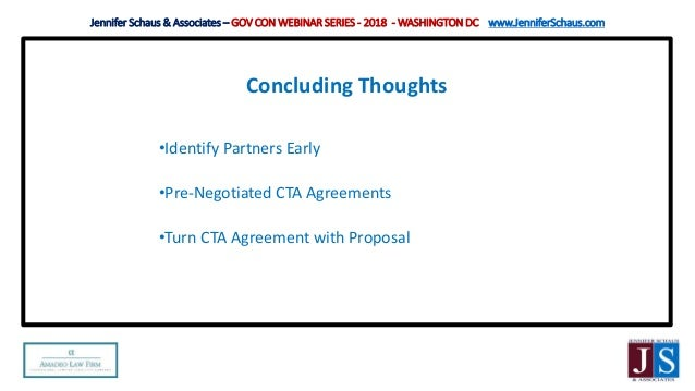 Fed Gov Con Gsa Cta Contractor Teaming Agreement