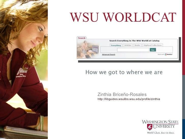 WorldCat Local Webinar WSULibs May2011