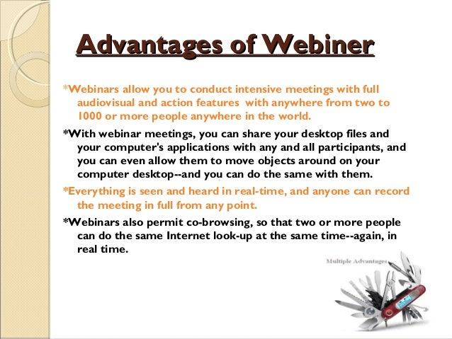 15 advantages of webineradvantages of webiner