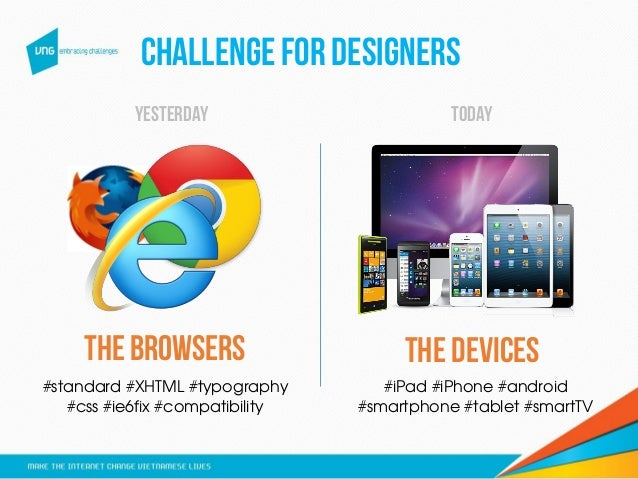 CHALLENGEFOR DESIGNERS the browserS #standard #XHTML #typography #css #ie6fix #compatibility THE DEVICES #iPad #iPhone #an...