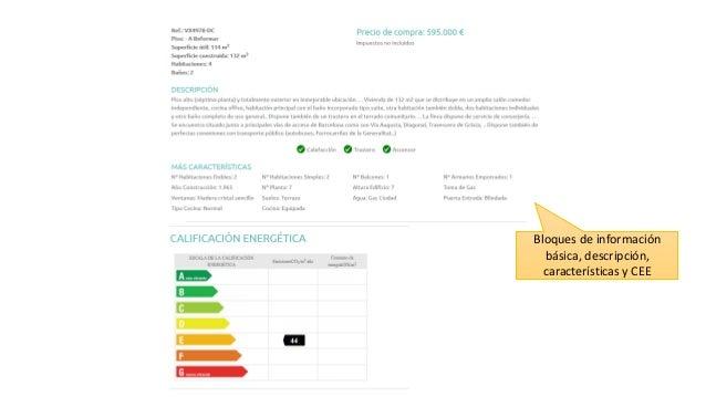 Bloques de información básica, descripción, características y CEE