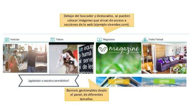 Banners gestionables desde el panel, de diferentes tamaños. Debajo del buscador y destacados, se pueden colocar imágenes q...