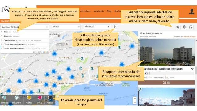 Leyenda para los points del mapa Búsqueda combinada de inmuebles y promociones Búsqueda universal de ubicaciones, con suge...