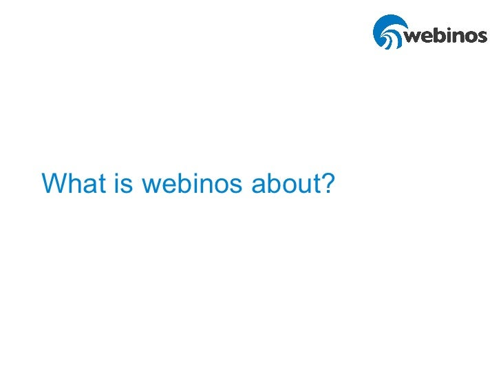 What is webinos about?