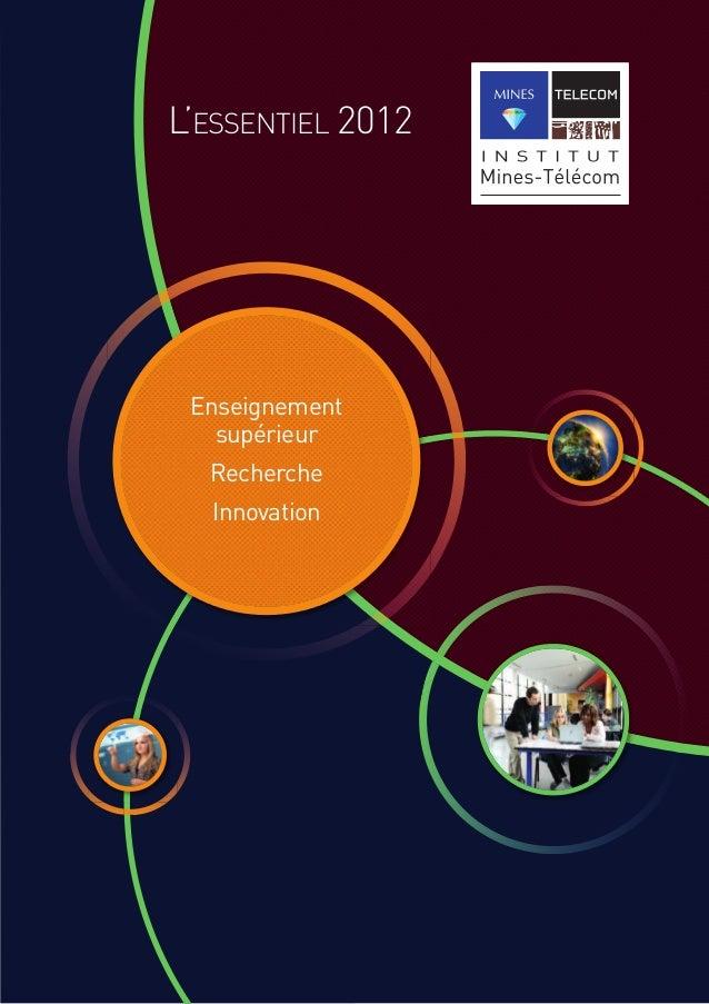 L'ESSENTIEL 2012 Enseignement supérieur Recherche Innovation