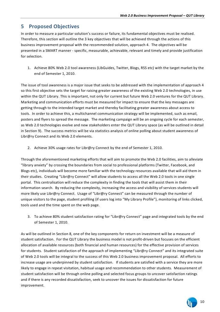 business improvement proposal template