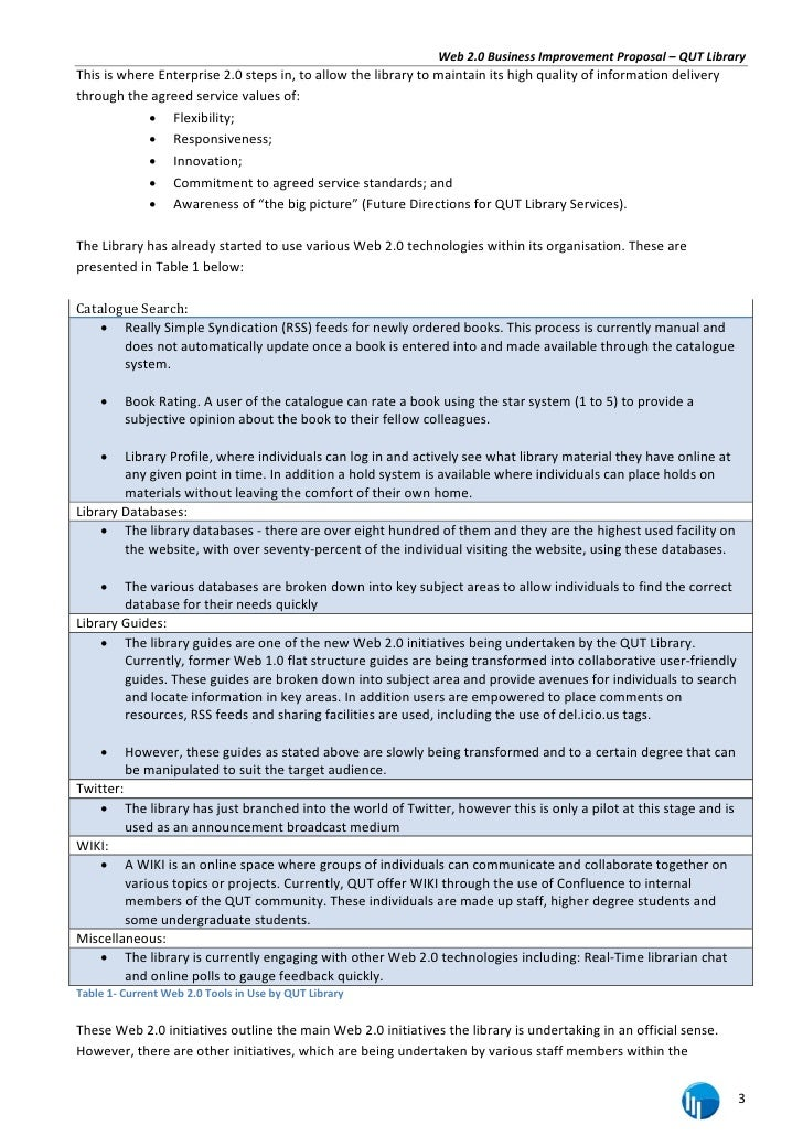 2 7 web 20 business improvement proposal