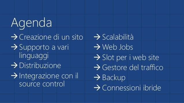 Azure Web Apps: portare il tuo sito sul cloud Slide 2