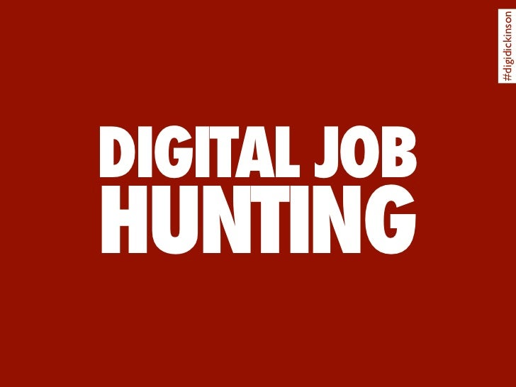 #digidickinson DIGITAL JOB HUNTING