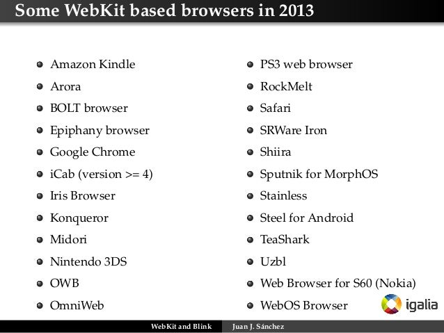 WebKit and Blink: Bridging the Gap Between the Kernel and the HTML5 R…