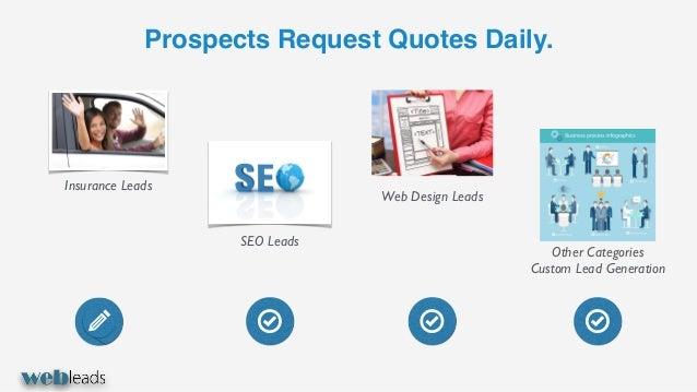 Web leads - seo leads, web design, call center, auto insurance Slide 2