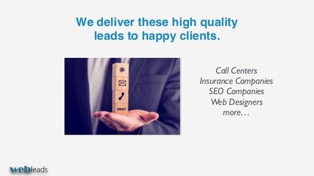 Web leads - seo leads, web design, call center, auto insurance Slide 3