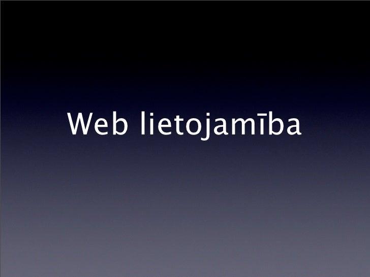 Web lietojamība