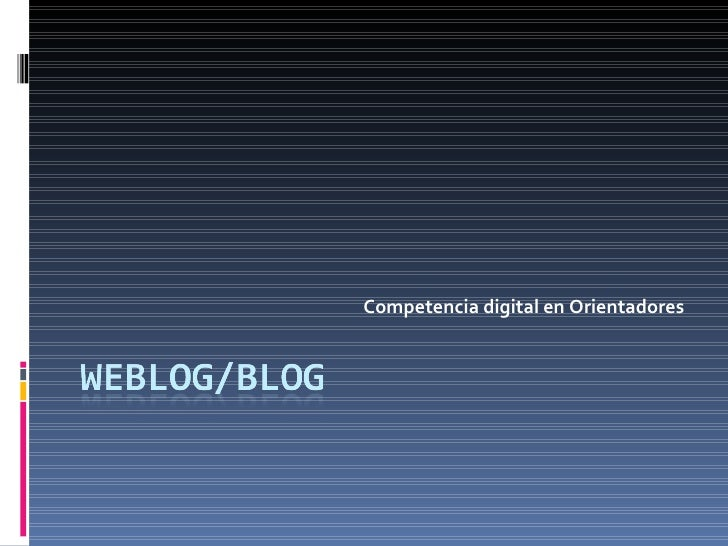 Competencia digital en Orientadores