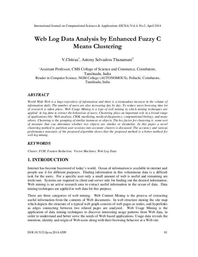 International Journal on Computational Sciences & Applications (IJCSA) Vol.4, No.2, April 2014 DOI:10.5121/ijcsa.2014.4209...