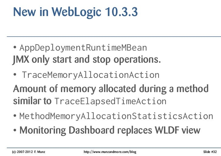 Oracle Weblogic Feature Timeline From Wls To Wls C