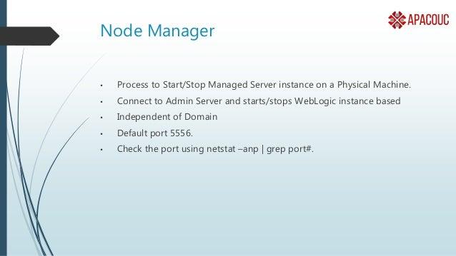 Weblogic Installation • Install JVM Depend on version. • 2. Install a Middleware Home and WebLogic • 3. Configure a Domain...