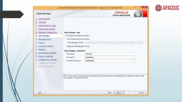 Managing Weblogic  Admin console is usually starting point  Processes to check  java for admin server & managed server ...