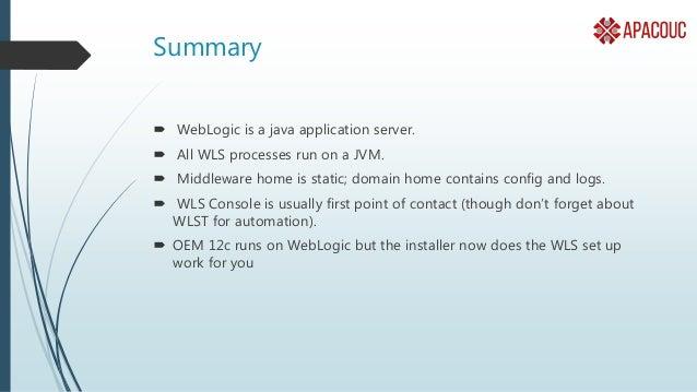 Weblogic  101 for dba