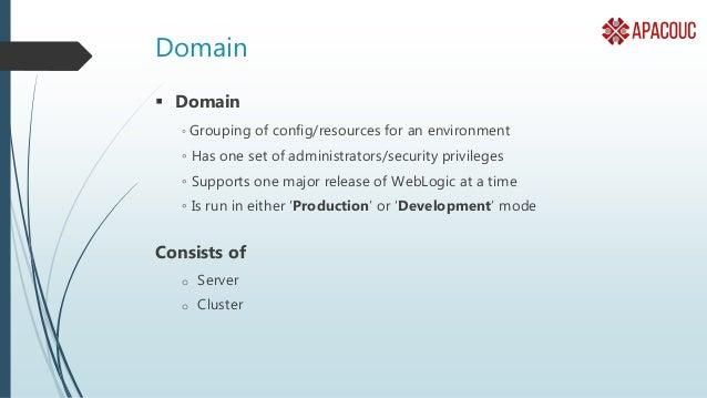 Server • Server is where we : • Deploy Enterprise Applications or Web Applications. • Create JDBC Resources. • Create JMS ...