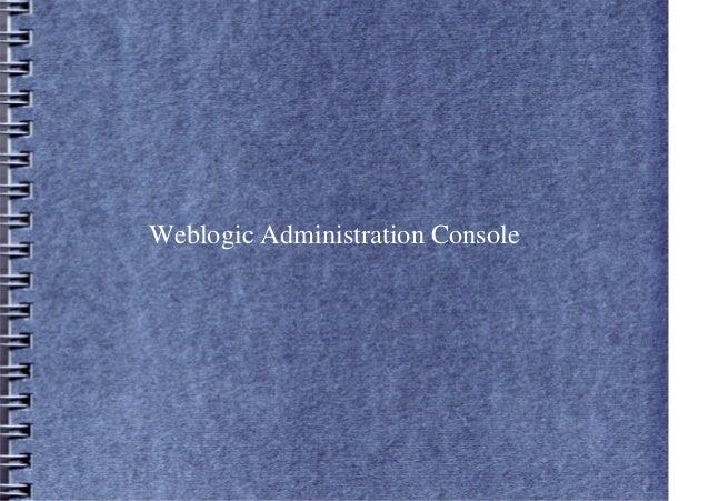 Weblogic Administration Console