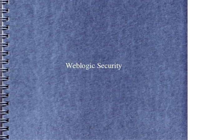 Weblogic Security