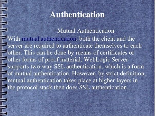 Weblogic Cluster Security