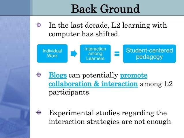 Weblogs for ESL Slide 2