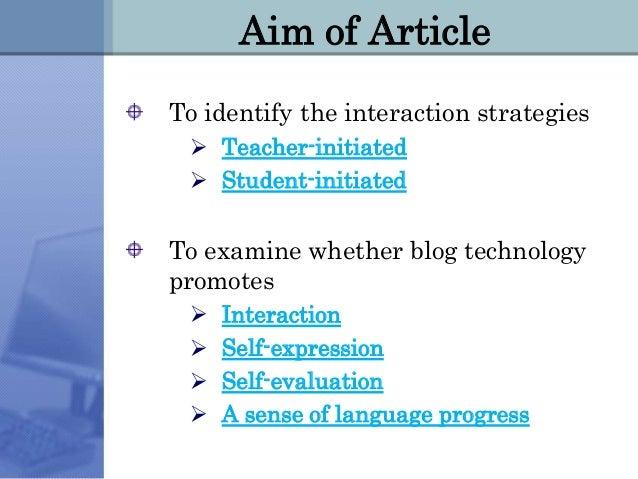 Weblogs for ESL Slide 3