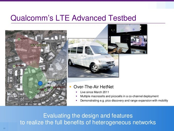 Qualcomm's LTE Advanced Testbed                          Over-The-Air HetNet                               Live since Ma...
