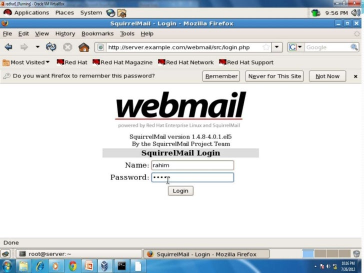 Web Server By default mail server(MTA) is configured for Send Mail. To change it to Postfix we have to install system-swi...